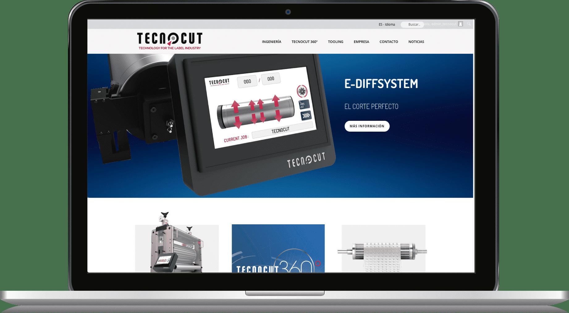 Diseño Web Corporativa Tecnocut