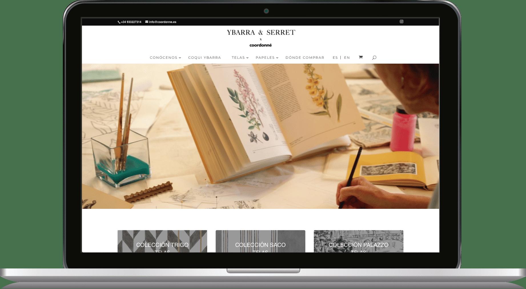 Diseño Tienda Virtual Ybarra & Serret