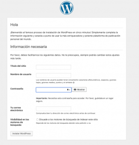 Que es Wordpress - Datos Personales