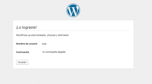 Que es Wordpress - Pantalla Final