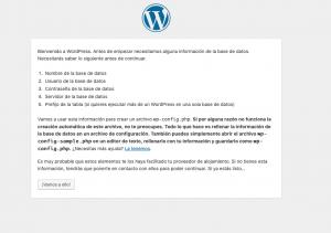 Que es Wordpress - Pantalla Inicial